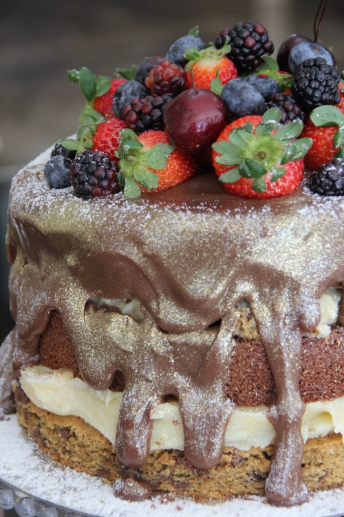 Cookie Cake com Frutas Vermelhas