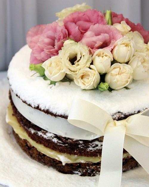 Cookie Cake com Flores Padrão